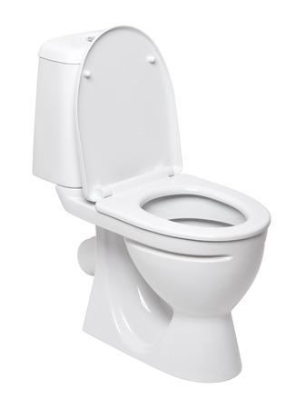 toilet bowl on a white background Imagens - 37345677