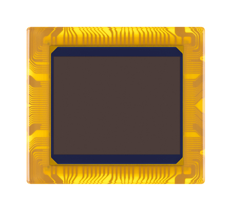 cmos: sensor of digital camera close-up on a white background