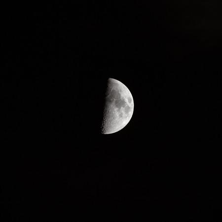 dark skies: Crescent moon in the night sky