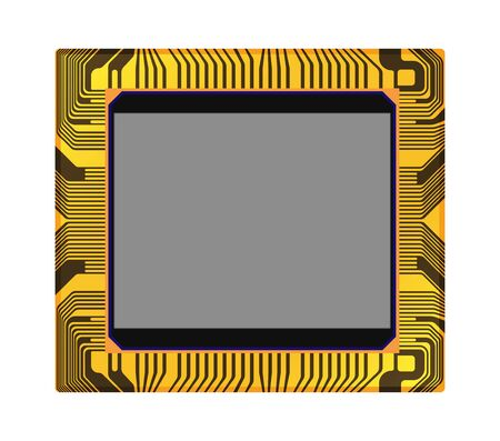 ccd: sensor of digital camera on a white background, vector illustration Illustration