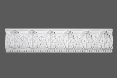moulding: white stucco moulding, elements of wall design