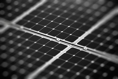太陽電池のフラグメント 写真素材