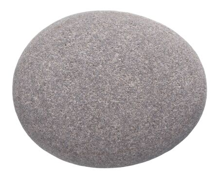 roundish: rounded pebble isolated on white background
