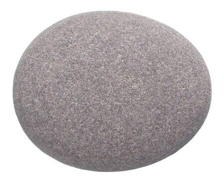 white pebble: rounded pebble isolated on white background