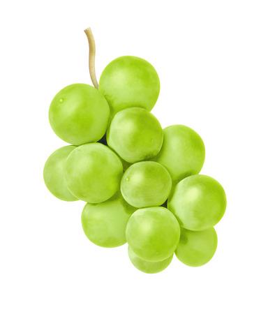 白い背景の上のブドウ
