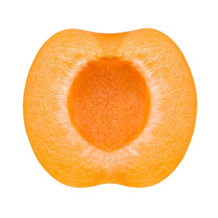honeyed: half of apricot isolated on white background