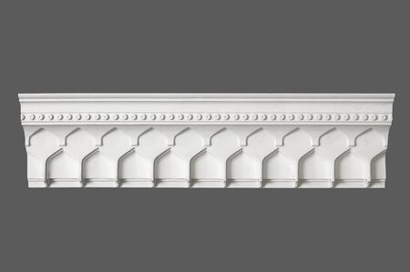 relief: white stucco moulding, elements of wall design