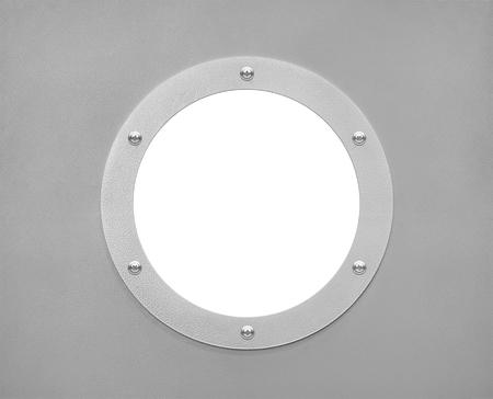round window: round window or porthole with white field