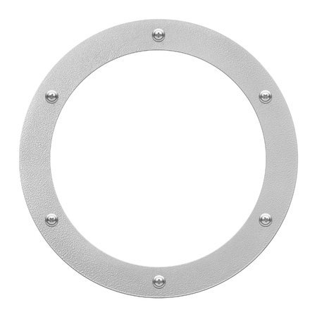 circular: round window or porthole with white field