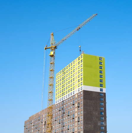 residential construction: Construction of a residential house