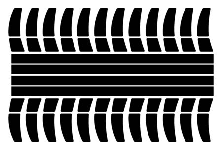 traction: vector tire track on a white background Illustration