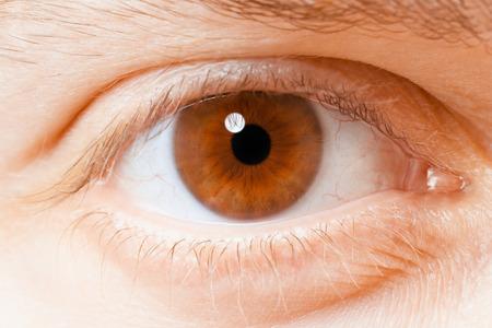 human eye: Human eye close up