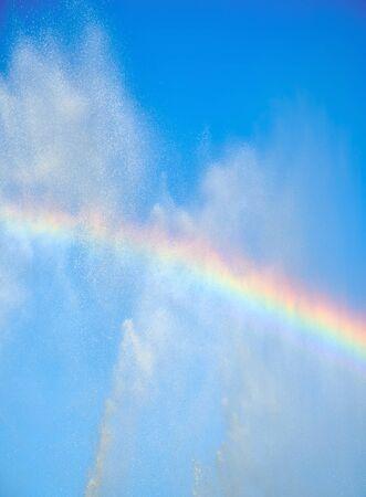 beauty fountain: rainbow in the water fountain