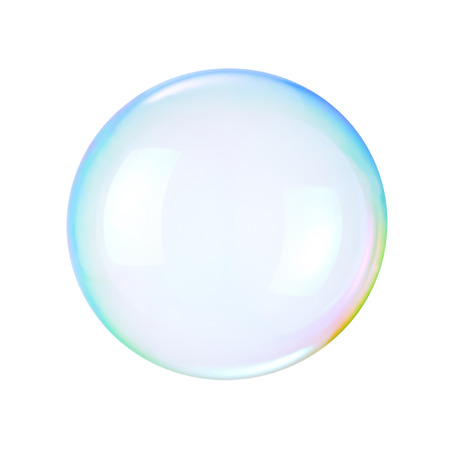 Soap bubble on a white background Stock Photo