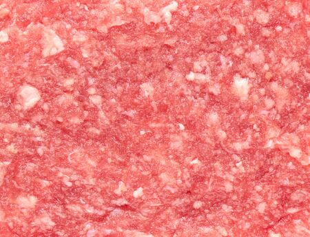 carne picada: pelos en primer plano, fondo de alimentos
