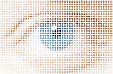 blue eyes: human dots eye,  illustration