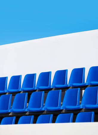 spectator seats against the sky