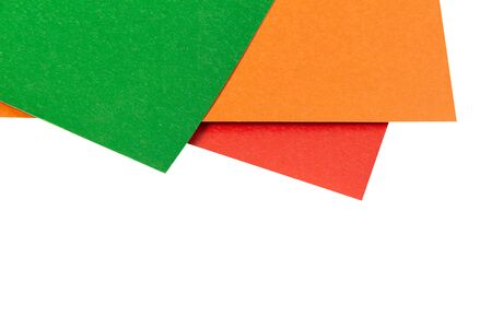 sheets of colored paper on a white background 版權商用圖片