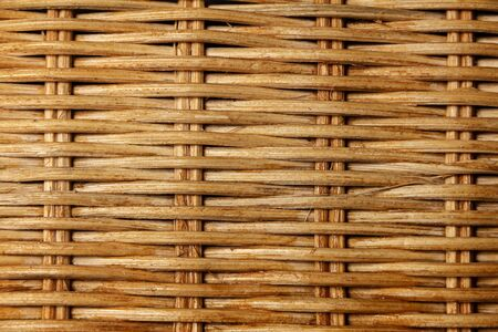 Texture of a wicker basket made of twigs. Close-up