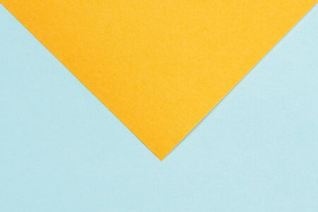 Large blank yellow-blue colored paper mail envelope. close-up. 版權商用圖片