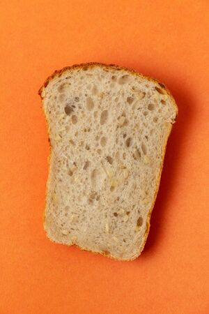 Sliced slice of cereal bread with a crust