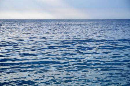 Blue sea with waves and blue sky