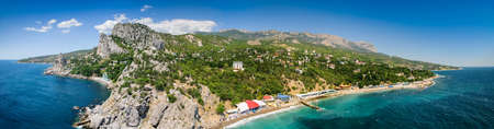 Demi-island Crimea, Simeiz. View from the mountain Diva
