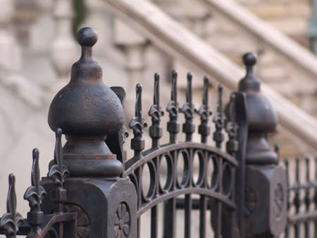 fencing: Iron fence Stock Photo