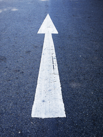 cursor: white cursor on the road Stock Photo