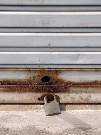hasp: old shutter door with hasp Stock Photo