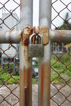 lock and key: key lock with fence