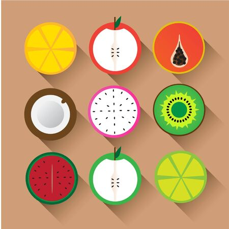 lame: Flat Vector icon Fruits