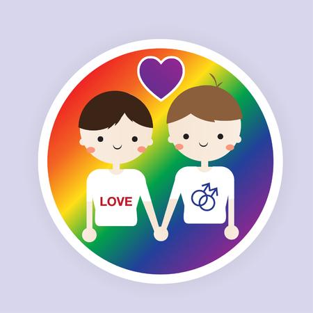 amor gay: Icono plana amor gay