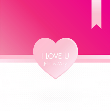 greeting card vector: Pinky Heart Greeting Card Vector