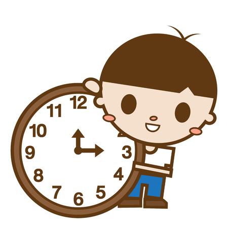 telling: Men telling time Illustration