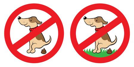 犬することができますサインのベクトル イラスト