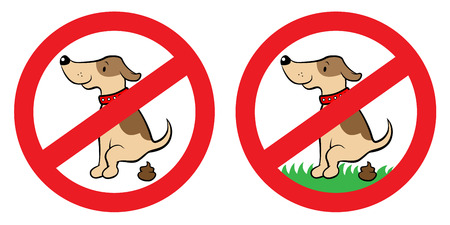 Vector illustration of a sign that dog can Vector