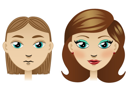 Girl with new haircut and make-up Stock Vector - 22508086