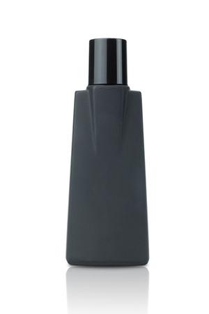 black  bottle isolated on white background.