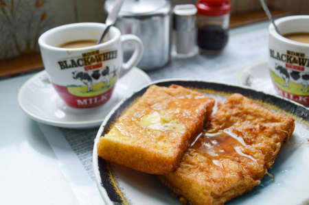 French Toast with milk tea