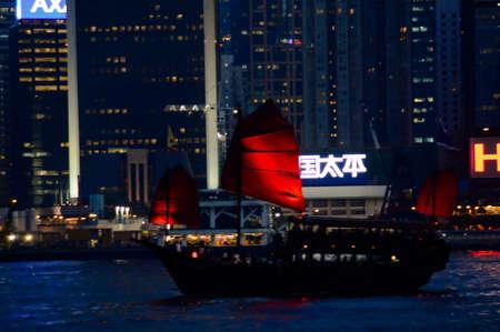 river scape: Hong Kong Boat Editorial