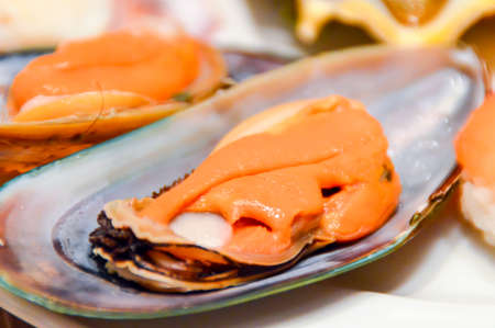foodies: Mussels Stock Photo