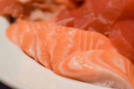 FOODIES: Salmon Shashimi Stock Photo
