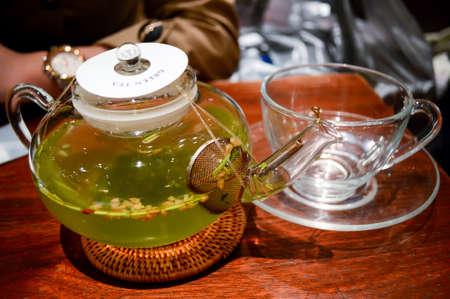 foodies: Flower tea Stock Photo