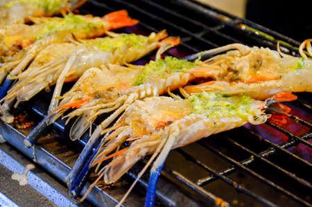 FOODIES: Big Shrimp Stock Photo