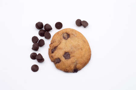 choco chips: homemade chocolate chip cookie