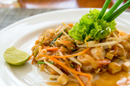 Thailand fried glass noodle - Pad Thai Stock Photo