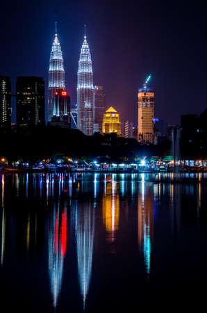 Kuala Lumpur City View From Titiwangsa Lake
