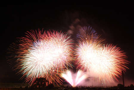 ground: Ground fireworks Stock Photo