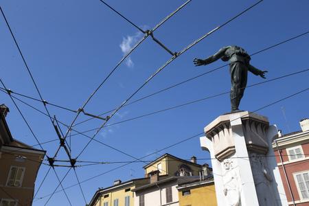 the po valley: Monument to Filippo Corridoni, Parma